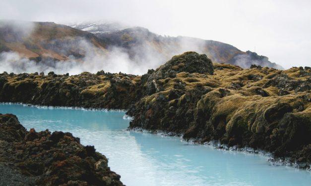 De hot pots van IJsland