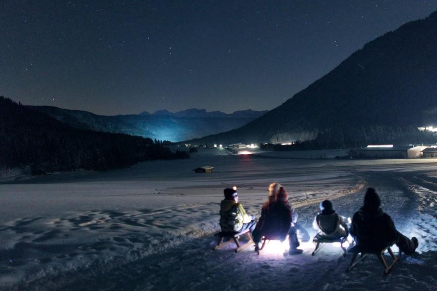 Nachtrodelen in Zuid-Tirol